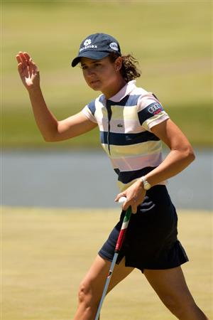 MORELIA, MEXICO - MAY 1:  Lorena Ochoa of Mexico waves to the crowd during the third round of the Tres Marias Championship at the Tres Marias Country Club on May 1, 2010 in Morelia, Mexico. (Photo by Darren Carroll/Getty Images)