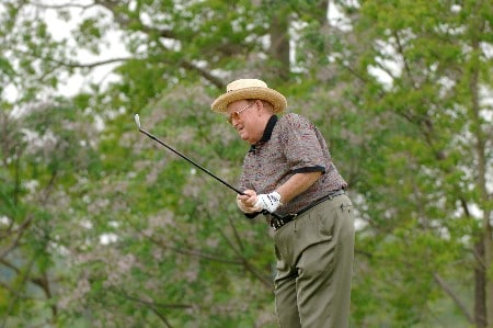 Bob Murphy competes in the first round of  the 2005 Liberty Mutual Legends of Golf tournament, April 22, in Savannah.Photo by Al Messerschmidt/WireImage.com