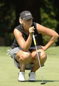 Ashley Prange on the first green during the first round of the Safeway Classic at Columbia-Edgewater Country Club in Portland, Oregon on August 18, 2006.Photo by Al Messerschmidt/WireImage.com
