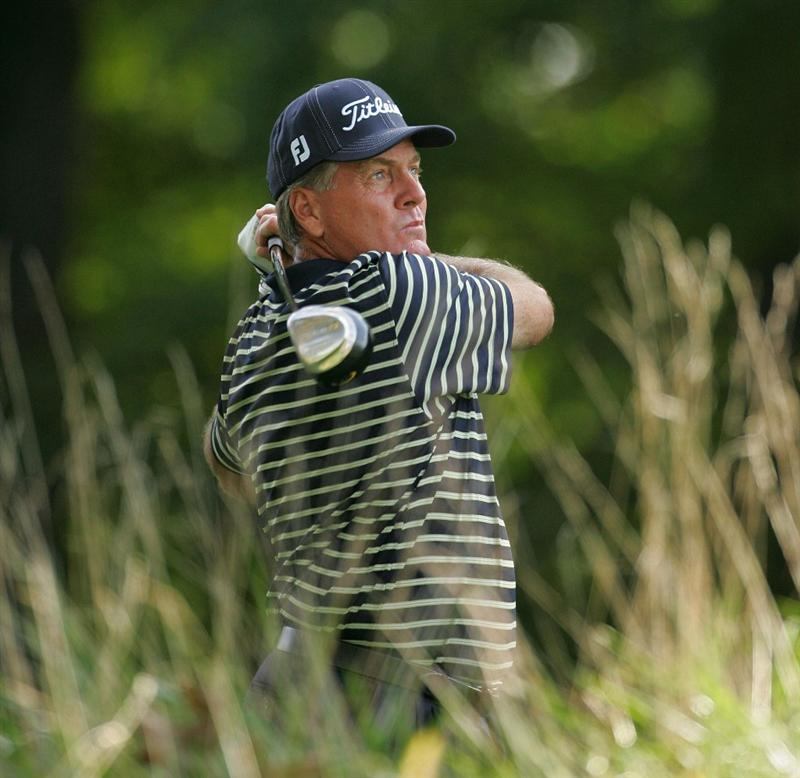 TIMONIUM, MD - OCTOBER 09:  Keith Fergus hits a drive during the first round of the Constellation Energy Senior Players Championship at Baltimore Country Club East Course held on October 9, 2008 in Timonium, Maryland  (Photo by Michael Cohen/Getty Images)