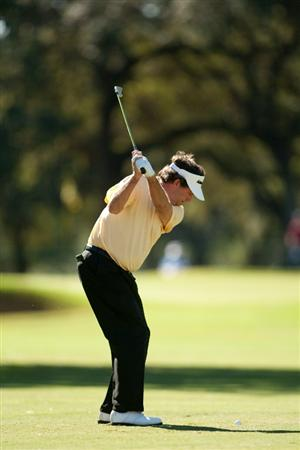 SAN ANTONIO, TX - OCTOBER 29: Bruce Lietzke plays an approach shot during the first round of the AT&T Championship at Oak Hills Country Club on October 29, 2010 in San Antonio, Texas. (Photo by Darren Carroll/Getty Images)