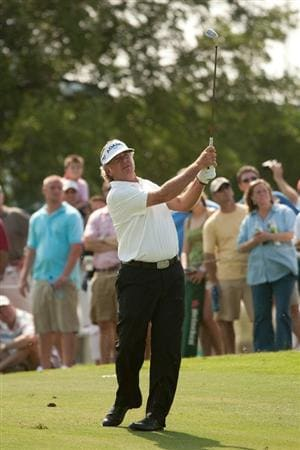 IRVING, TX - MAY 20: Tommy Armour III follows through on an approach shot during the first round of the HP Byron Nelson Championship at TPC Four Seasons Resort Las Colinas on May 20, 2010 in Irving, Texas. (Photo by Darren Carroll/Getty Images)
