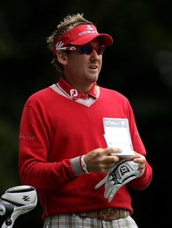 VIRGINIA WATER, ENGLAND - MAY 28:  Ian Poulter of England waits on the 2nd hole during the third round of the BMW PGA Championship at the Wentworth Club on May 28, 2011 in Virginia Water, England.  (Photo by Warren Little/Getty Images)