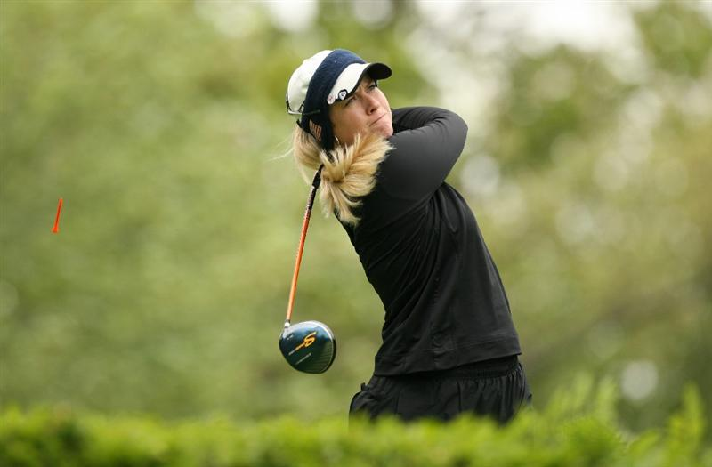 CLIFTON, NJ - MAY 17: Brittany Lincicome hits her tee shot on the 6th hole during the final round of the Sybase Classic presented by ShopRite at Upper Montclair Country Club on May 17, 2009 in Clifton, New Jersey. (Photo by Hunter Martin/Getty Images)