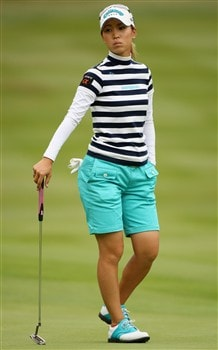 SUNNINGDALE, UNITED KINGDOM - JULY 31:  Momoko Ueda of Japan looks on from the 10th green during the first round of the 2008 Ricoh Women's British Open held on the Old Course at Sunningdale Golf Club on July 31, 2008 in Sunningdale, England.  (Photo by Warren Little/Getty Images)
