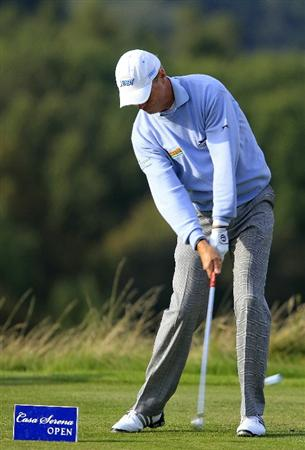 KUTNA HORA, CZECH REPUBLIC - SEPTEMBER 18:  Gary Wolstenholme of England in action during the second round of the Casa Serena Open played at Casa Serena Golf on September 18, 2010 in Kutna Hora, Czech Republic.  (Photo by Phil Inglis/Getty Images)