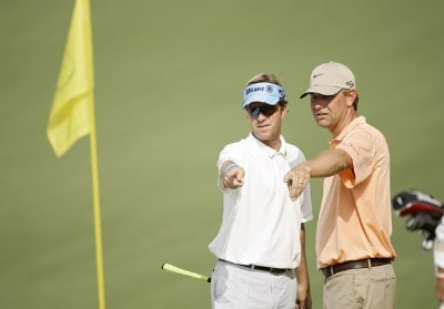 Brett Quigley and Lucas Glover during practice for the 2007  Masters at the Augusta National Golf Club in Augusta, Georgia, on April 3, 2007. The 2007 Masters - Practice - April 3, 2007Photo by Sam Greenwood/WireImage.com