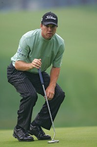Arron Oberholser during the second round of the 88th PGA Championship at Medinah Country Club in Medinah, Illinois, on August 18, 2006.Photo by Sam Greenwood/WireImage.com