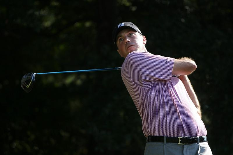 ATLANTA - SEPTEMBER 25:  Matt Kuchar hits his tee shot on the third hole during the third round of THE TOUR Championship presented by Coca-Cola at East Lake Golf Club on September 25, 2010 in Atlanta, Georgia.  (Photo by Scott Halleran/Getty Images)