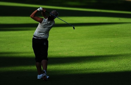 OTTAWA - AUGUST 16:  Se Ri Pak of South Korea makes an approach shot on the 16th hole during the third round of the CN Canadian Women's Open at the Ottawa Hunt and Golf Club on August 16, 2008 in Ottawa, Ontario, Canada.  (Photo by Robert Laberge/Getty Images)