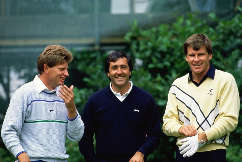 Nick Price, Seve Ballesteros and Nick Faldo