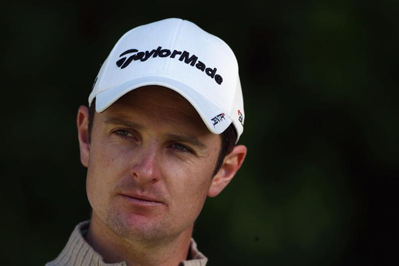 VIRGINIA WATER, ENGLAND - MAY 25:  Justin Rose of England looks on during the Pro-Am round prior to the BMW PGA Championship at Wentworth Club on May 25, 2011 in Virginia Water, England.  (Photo by Warren Little/Getty Images)
