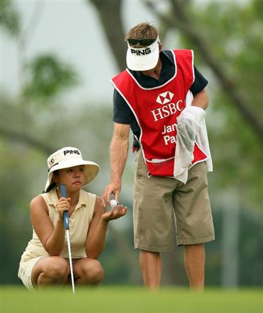 SINGAPORE - MARCH 07:  Jane Park of the USA during the third round of HSBC Women's Champions at the Tanah Merah Country Club on March 7, 2009 in Singapore.  (Photo by Ross Kinnaird/Getty Images)
