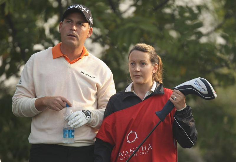 NEW DELHI, INDIA - FEBRUARY 11:  David Howell of England looks on during Round One of the Avantha Masters held at The DLF Golf and Country Club on February 11, 2010 in New Delhi, India.  (Photo by Ian Walton/Getty Images)