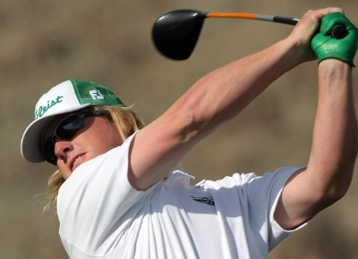 Defending champion  Charley Hoffman hits his tee shot on the 12th hole during the first round of the 49th Bob Hope Chrysler Classic at the Silverrock Resort on January 16, 2008 in La Quinta, California. PGA TOUR - 2008 Bob Hope Chrysler Classic - Round OnePhoto by Harry How/WireImage.com