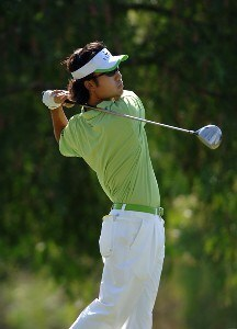 Kevin Na tees off  the 8th hole during the third round of the 2006 Mark Christopher Charity Classic at the Empire Lake Golf Club in Rancho Cucamonga, California on Saturday, October7, 2006 Nationwide Tour - 2006 Mark Christopher Charity Classic - Third Round