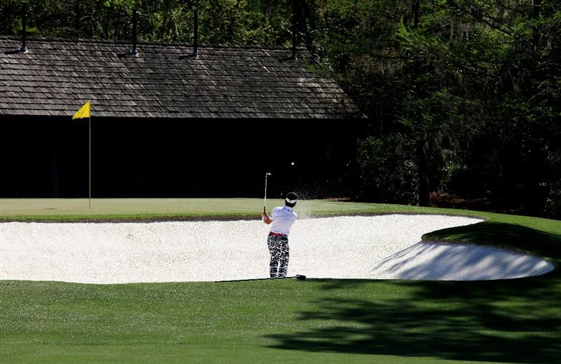 AUGUSTA, GA - APRIL 07:  Hiroyuki Fujita of Japan hits to the 11th green during the first round of the 2011 Masters Tournament at Augusta National Golf Club on April 7, 2011 in Augusta, Georgia.  (Photo by David Cannon/Getty Images)