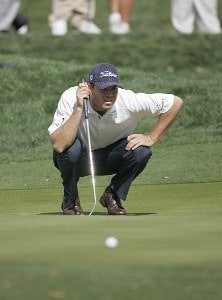 Arron Oberholser during the second round of THE PLAYERS Championship held at the TPC Stadium Course in Ponte Vedra Beach, Florida on March 24, 2006.Photo by Michael Cohen/WireImage.com
