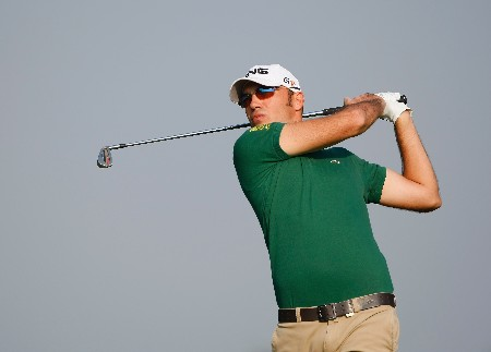 HONG KONG - NOVEMBER 14:  Gregory Havret of France plays an approach shot during the Pro - Am of the UBS Hong Kong Open at the Hong Kong Golf Club on November 14, 2007 in Fanling, Hong Kong.  (Photo by Stuart Franklin/Getty Images)