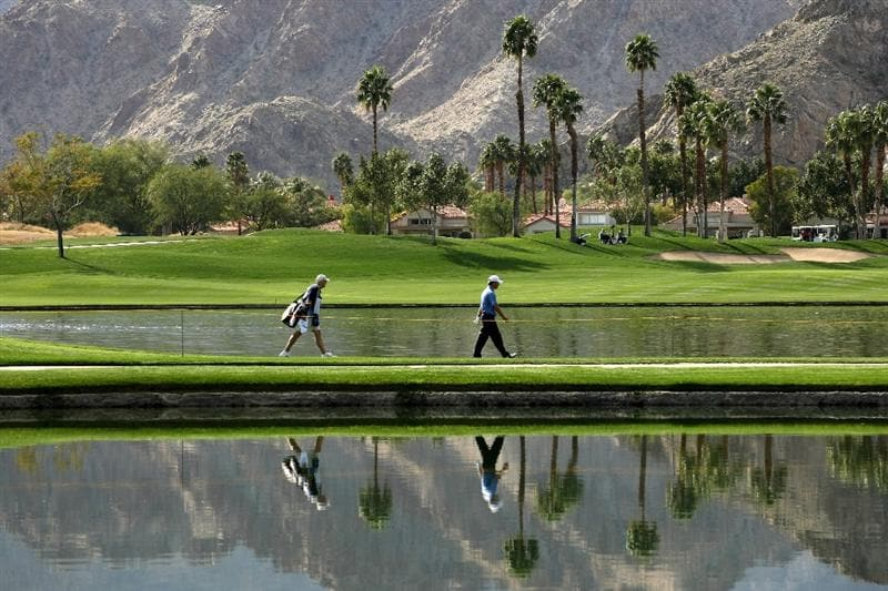 LA QUINTA, CA - JANUARY 22:   Scott McCarron walks to his ball from the 10th tee on the Palmer Private Course at PGA West duing the second round of the Bob Hope Chrysler Classic on January 22, 2009 in La Quinta, California.  (Photo by Stephen Dunn/Getty Images)
