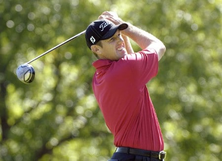 Craig Perks tees off the ninth hole during the second round of the 2005 Cialis Western Open at Cog Hill Golf and Country Club in Lemont, Illinois on Friday, July 1, 2005.Photo by Marc Feldman/WireImage.com