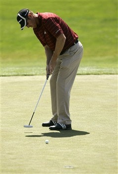 LIVERMORE, CA - APRIL 03:   Greg Owen of England putts the ball on the 9th green during the first round of the 2008 Livermore Valley Wine Country Championship on April 03, 2008 at the Wente Vineyard in Livermore, California. Owens finished the round 6-under par in first place. (Photo By Kent Horner/ Getty Images)