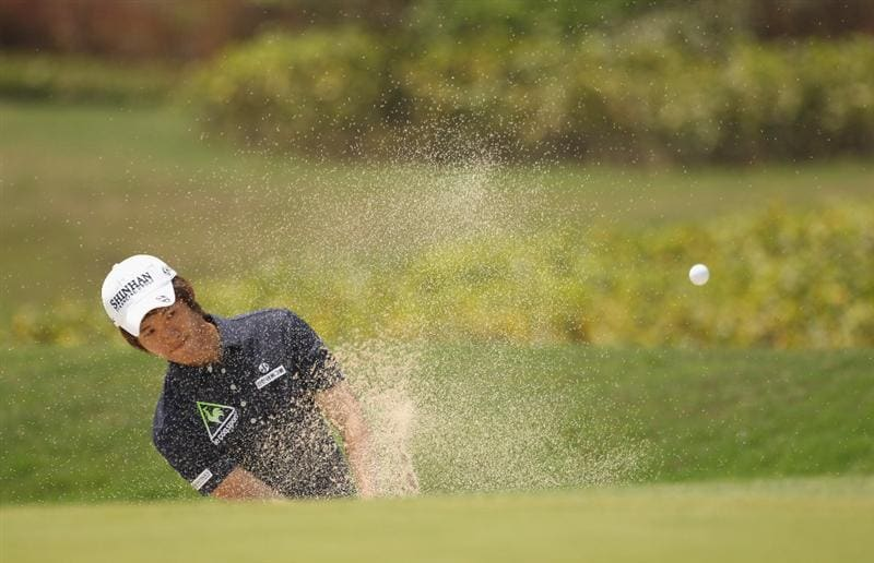CHENGDU, CHINA - APRIL 24:  Chang-won Han of Korea in action during day four of the Volvo China Open at Luxehills Country Club on April 24, 2011 in Chengdu, China.  (Photo by Ian Walton/Getty Images)