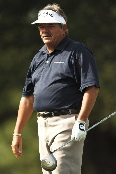 Rodger Davis hits from the 11th tee during the first round of the FedEX Kinko's Classic at the Hills Country Club in Austin, Texas April 29, 2005.Photo by Steve Grayson/WireImage.com