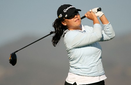 HUIXQUILUCAN, MEXICO - MARCH 14:  Hannah Jun of the USA hits a shot during the first round of the MasterCard Classic at Bosque Real Country Club on March 14, 2008 in Huixquilucan, Mexico.  (Photo by Scott Halleran/Getty Images)