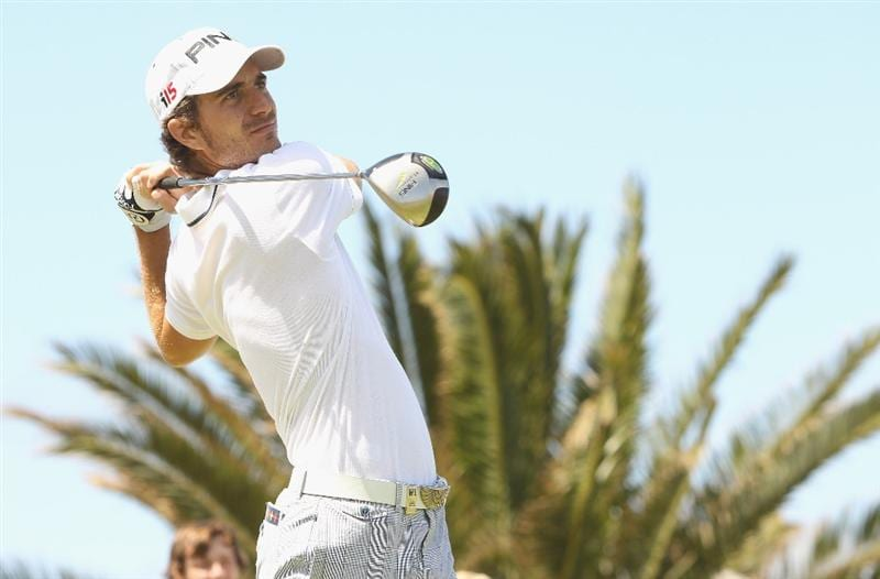 PORTO SANTO ISLAND, PORTUGAL - APRIL 08:  Alejandro Canizares of Spain in action during the firs round of the Madeira Islands Open at the Porto Santo golf club on April 8, 2010 in Porto Santo Island, Portugal.  (Photo by Ian Walton/Getty Images)