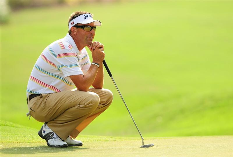 PONTE VEDRA BEACH, FL - MAY 06:  Robert Allenby of Australia waits on the eighth green during the first round of THE PLAYERS Championship held at THE PLAYERS Stadium course at TPC Sawgrass on May 6, 2010 in Ponte Vedra Beach, Florida.  (Photo by Sam Greenwood/Getty Images)