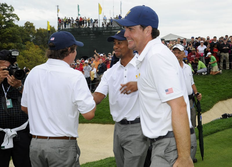 Tiger Woods, Keegan Bradley, Jason Dufner