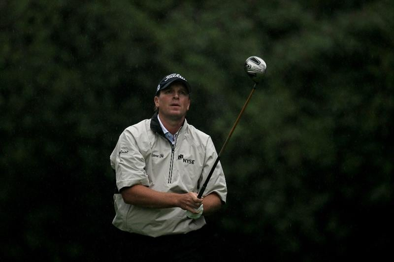 PACIFIC PALISADES, CA - FEBRUARY 05:  Steve Stricker watches his tee shot on the 12th hole during the second round of the Northern Trust Open at Riveria Country Club on February 5, 2010 in Pacific Palisades, California.  (Photo by Stephen Dunn/Getty Images)