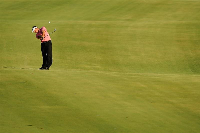 PONTE VEDRA BEACH, FL - MAY 09:  Alex Cejka of Germany plays into the 18th green during the third round of THE PLAYERS Championship on THE PLAYERS Stadium Course at TPC Sawgrass on May 9, 2009 in Ponte Vedra Beach, Florida.  (Photo by Sam Greenwood/Getty Images)