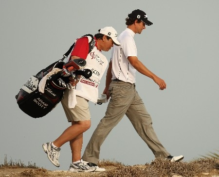 DOHA, QATAR - JANUARY 27:  Adam Scott of Australia makes his way down to the 16th green during the final round of the Commercialbank Qatar Masters held at the Doha Golf Club on January 27, 2008 in Doha,Qatar.  (Photo by Ross Kinnaird/Getty Images)