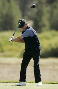 Mark McNulty during the third round of the 2007 JELD-WEN Tradition on the Crosswater Course at Crosswater Club at Sunriver on  August 18, 2007 in Sunriver, Oregon. Champions Tour - 2007 JELD-WEN Tradition - Third RoundPhoto by Stan Badz/PGA TOUR/WireImage.com