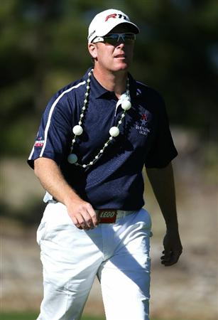PEBBLE BEACH, CA - FEBRUARY 11:  D.A. Points walks on the sixth green at the AT&T Pebble Beach National Pro-Am- Round Two at the Spyglass golf club on February 11, 2011 in Pebble Beach, California.  (Photo by Jed Jacobsohn/Getty Images)