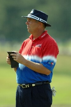 Kirk Triplett looks on during Round One of The Fedex St. Jude Classic at TPC at Southwind in Memphis, Tennessee on May 26, 2005.Photo by Joe Murphy/WireImage.com