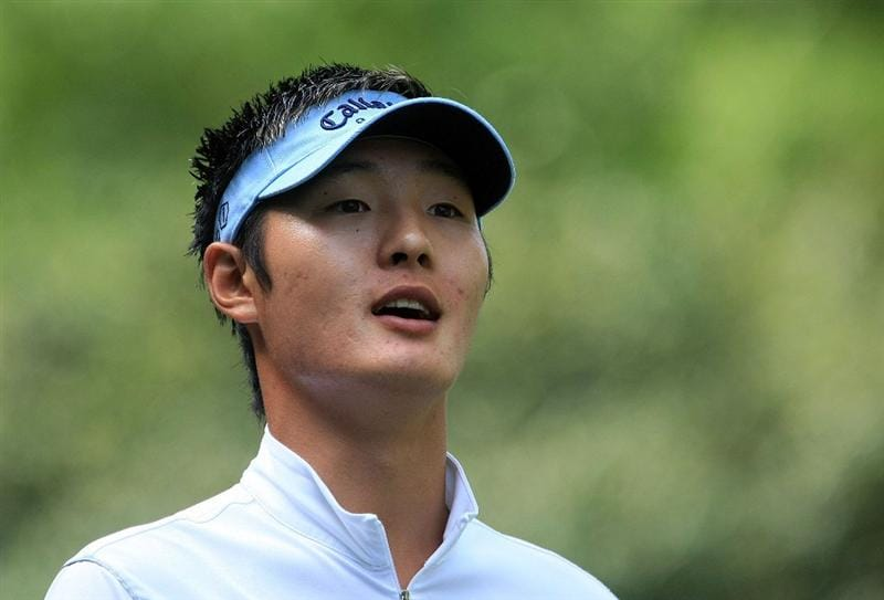 CHARLOTTE, NC - APRIL 30:  Danny Lee of New Zealand walks off the 13th tee during the first round of the Quail Hollow Championship at the Quail Hollow Club on April 30, 2009 in Charlotte, North Carolina.  (Photo by Scott Halleran/Getty Images)