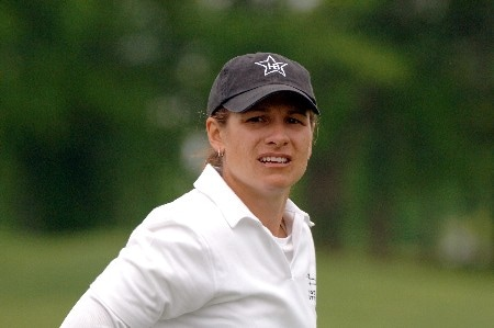 Heather Bowie competes during the second round of the 2005 Franklin American Mortgage Championship at Vanderbilt Legends Club in Franklin, Tennessee on April 29, 2005.Photo by Al Messerschmidt/WireImage.com