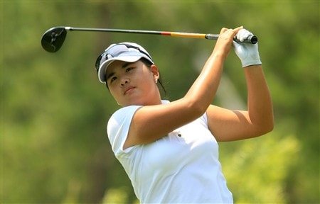 MT. PLEASANT, SC - MAY 31:  Inbee Park of South Korea watches her tee shot on the sixth hole during the third round of the Ginn Tribute at RiverTowne Country Club on May 31, 2008 in Mt. Pleasant, South Carolina.  (Photo by Scott Halleran/Getty Images)