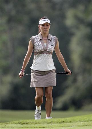 MOBILE, AL - SEPTEMBER 11:  Amy Hung of Taiwan walks to the 9th green during first round play in the Bell Micro LPGA Classic at Magnolia Grove Golf Course on September 11, 2008 in Mobile, Alabama.  (Photo by Dave Martin/Getty Images)