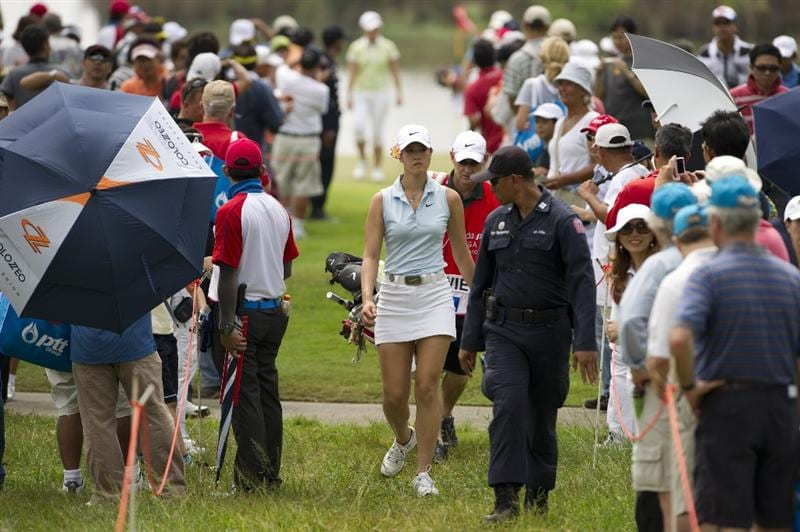 CHON BURI, THAILAND - FEBRUARY 21:  Michelle Wie of USA looks on her way to the 9th hole during the final round of the Honda PTT LPGA Thailand at Siam Country Club on February 21, 2010 in Chon Buri, Thailand.  (Photo by Victor Fraile/Getty Images)