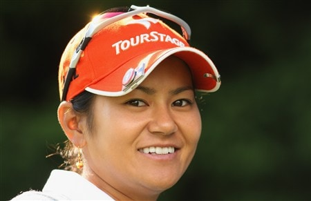 SUNNINGDALE, UNITED KINGDOM - JULY 29:  Portrait of Ai Miyazato of Japan during the Pro-Am prior to the start of the Ricoh Women's British Open at Sunningdale Golf Club on July 29, 2008 in Sunningdale, England  (Photo by Warren Little/Getty Images)