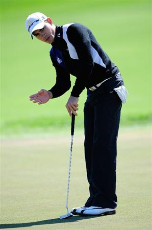 PALM BEACH GARDENS, FL - MARCH 05:  Camilo Villegas of Columbia plays a shot on the 4th hole during the second round of the Honda Classic at PGA National Resort And Spa on March 5, 2010 in Palm Beach Gardens, Florida.  (Photo by Sam Greenwood/Getty Images)