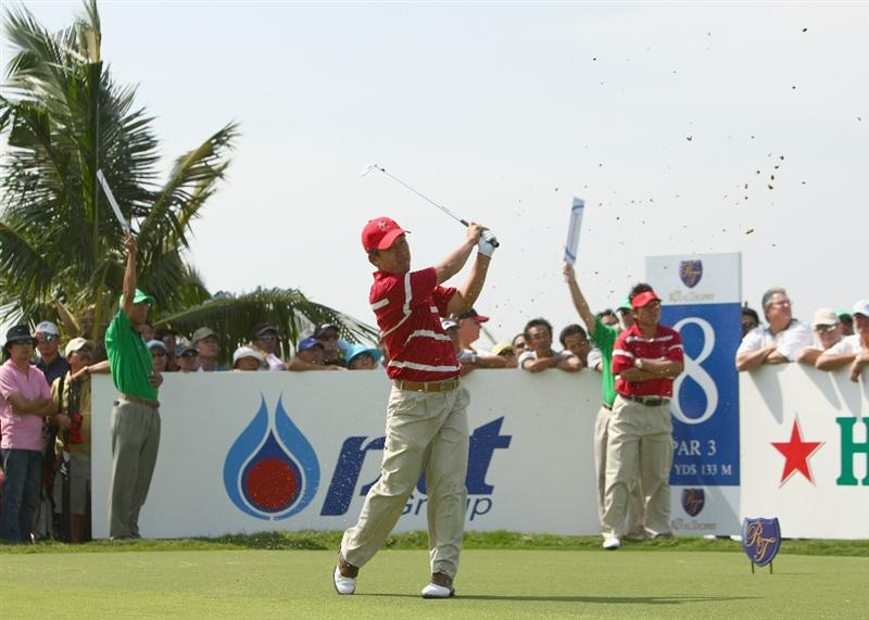 BANGKOK, THAILAND - JANUARY 09:  Toru Taniguchi of Japan in action during the foursomes on Day one of The Royal Trophy at the Amata Spring Country Club on January 9, 2009 in Bangkok, Thailand.  (Photo by Ian Walton/Getty Images)