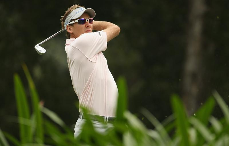 HONG KONG - NOVEMBER 20:  Ian Poulter of England in action during day three of the UBS Hong Kong Open at The Hong Kong Golf Club on November 20, 2010 in Hong Kong, Hong Kong.  (Photo by Ian Walton/Getty Images)