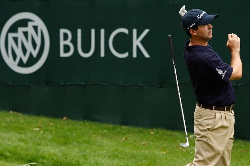 GRAND BLANC, MI - AUGUST 01:  Charles Warren tees off on the 17th hole during round three of the Buick Open at Warwick Hills Golf and Country Club on August 1, 2009 in Grand Blanc, Michigan.  (Photo by Chris Graythen/Getty Images)
