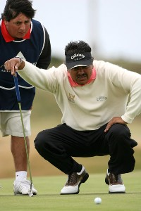 Eduardo Romero (ARG) during the final round of the 2006 Senior British Open at the Westin Turnberry resort in Ayrshire, Scotland on July 30, 2006.Photo by Matthew Harris/WireImage.com