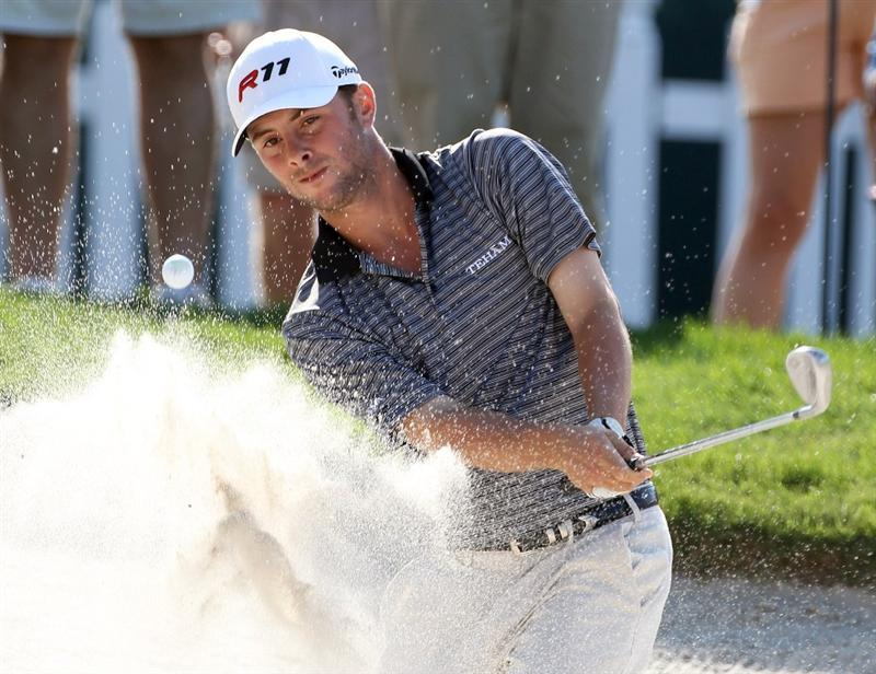 ORLANDO, FL - MARCH 24:  Spencer Levin plays a shot on the 8th hole during the first round of the Arnold Palmer Invitational presented by MasterCard at the Bay Hill Club and Lodge on March 24, 2011 in Orlando, Florida.  (Photo by Sam Greenwood/Getty Images)